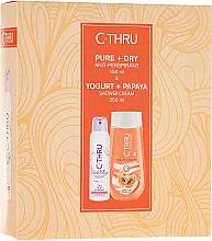 Düfte, Parfümerie und Kosmetik Duftset - C-Thru Pure & Dry (Deospray 150ml + Duschgel 250ml)