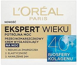 Düfte, Parfümerie und Kosmetik Feuchtigkeitsspendende und glättende Anti-Falten Nachtcreme 40+ - L'Oreal Paris Age Specialist Expert Night Cream 40+