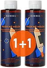 Düfte, Parfümerie und Kosmetik Körperpflegeset - Korres Wash Me Melon Kids (2in1 Shampoo und Duschgel 2x250ml)