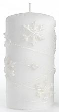 Düfte, Parfümerie und Kosmetik Dekorative Kerze weiß 7x10 cm - Artman Snowflake Application