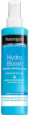 Feuchtigkeitsspendendes Körperspray mit Hyaluron-Gel-Komplex - Neutrogena Hydro Boost Express Hydrating Spray