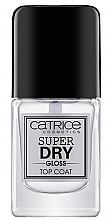 Düfte, Parfümerie und Kosmetik Gel Nagelüberlack - Catrice Super Dry Gloss Top Coat