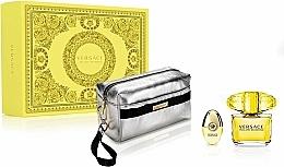Düfte, Parfümerie und Kosmetik Versace Yellow Diamond - Duftset (Eau de Toilette 90ml + Eau de Toilette 10ml + Kosmetiktasche)