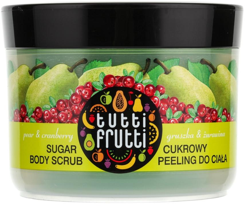 """Zuckerpeeling für den Körper """"Birne und Preiselbeere"""" - Farmona Tutti Frutti Sugar Scrub — Bild N2"""