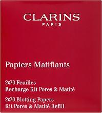 Düfte, Parfümerie und Kosmetik 2in1 Nachfüllbare, ölabsorbierende Blättchen + Glättender Puder - Clarins Kit Pores & Matite