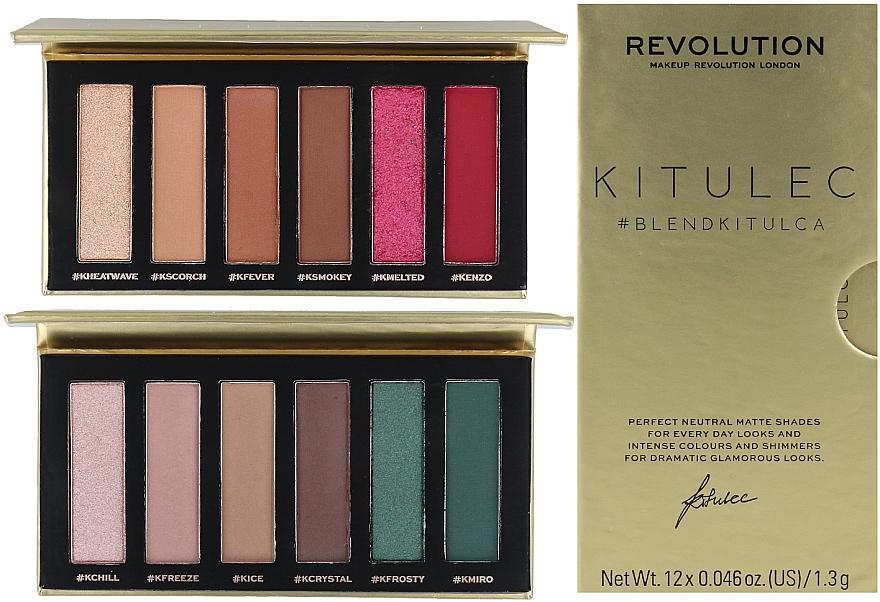 Make-up Set (Lidschattenpalette 2x7.8g) - Makeup Revolution Kitulec #BlendKitulca Shadow Palette — Bild N1