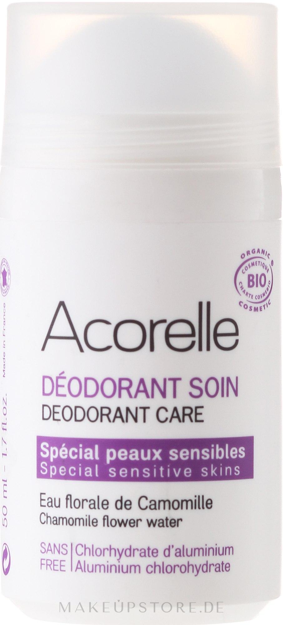 Bio Deo Roll-on mit Mandel und Kamille - Acorelle Deodorant Care — Bild 50 ml