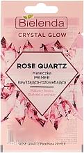 Düfte, Parfümerie und Kosmetik Feuchtigkeitsspendende und aufhellende Primer-Maske für das Gesicht mit rosa Quarz und Orchideenextrakt - Bielenda Crystal Glow Rose Quartz
