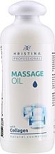 Düfte, Parfümerie und Kosmetik Pflegendes und regenerierendes Massageöl für den Körper mit Kollagen - Hristina Professional Massage Oil With Collagen