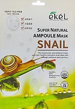 Düfte, Parfümerie und Kosmetik Feuchtigkeitsspendende Tuchmaske für das Gesicht mit Schneckenmucinextrakt - Ekel Super Natural Ampoule Mask Snail