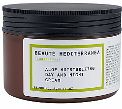 Düfte, Parfümerie und Kosmetik Feuchtigkeitsspendende Gesichtscreme für Tag und Nacht mit Aloe Vera - Beaute Mediterranea Aloe Moisturizing Day And Night Cream
