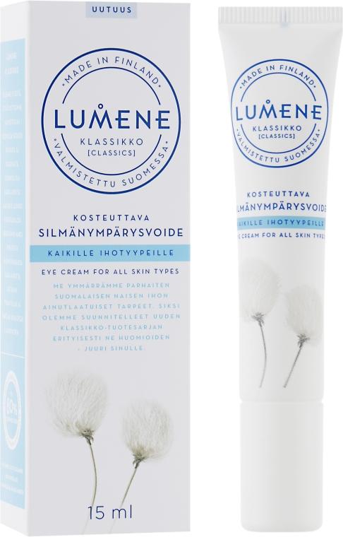 Feuchtigkeitsspendende Augencreme - Lumene Klassikko Moisturizing Eye Cream — Bild N1