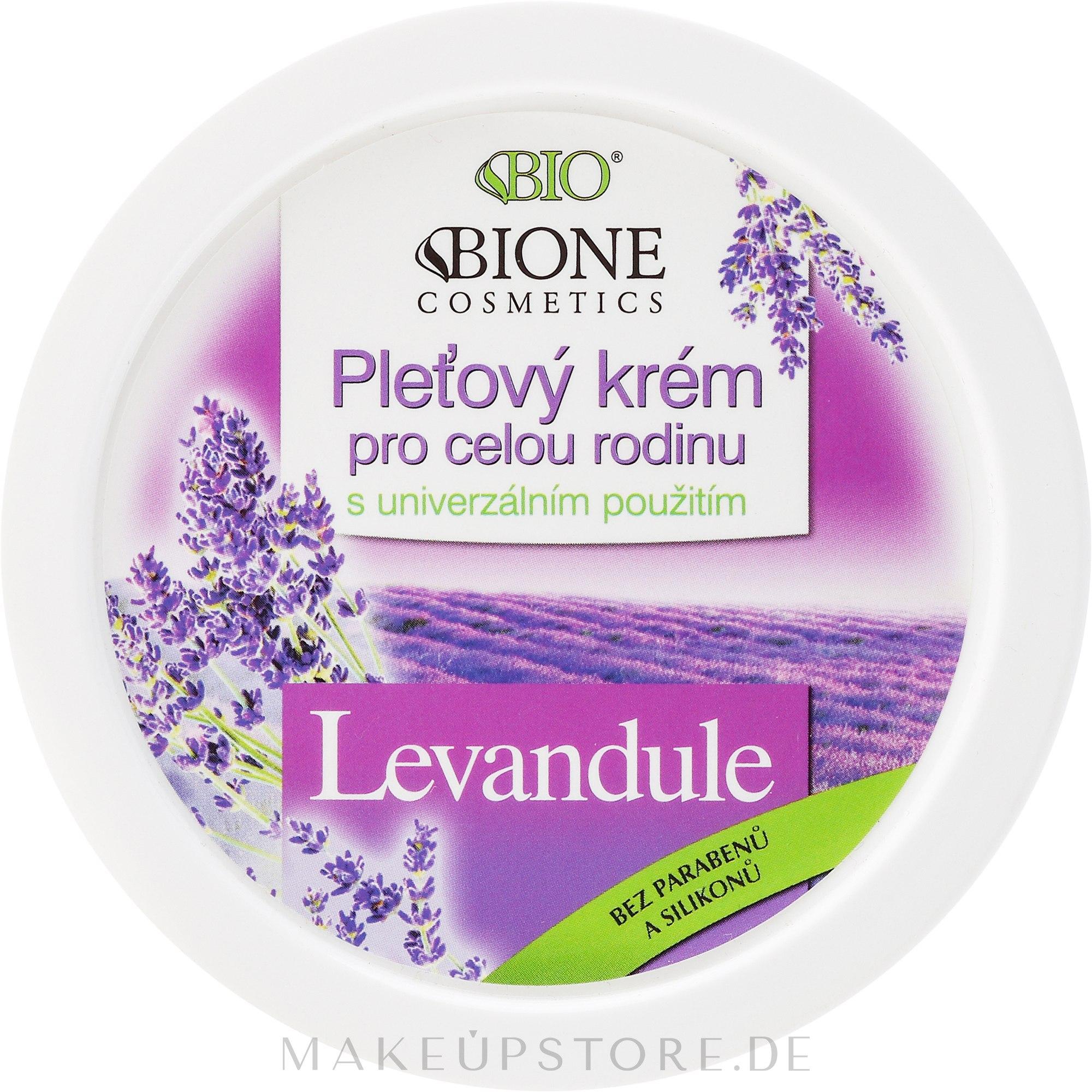 Pflegende Gesichtscreme mit Lavendel für die ganze Familie - Bione Cosmetics Lavender Facial Cream Whole Family — Bild 260 ml