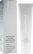 Düfte, Parfümerie und Kosmetik Aufhellende Zahncreme mit Silberpartikeln, Hyaluronsäure und Fluorid - Beverly Hills Formula Professional White Advanced Silver Whitening