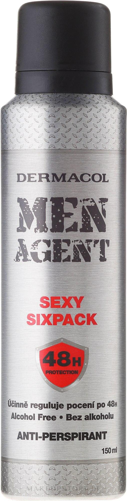 "Deospray Antitranspirant ""Sexy Sixpack"" - Dermacol Men Agent Sexy Sixpack 48H Protection Anti-Perspirant — Bild 150 ml"