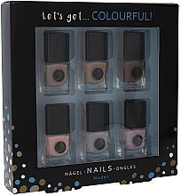 Düfte, Parfümerie und Kosmetik Nagellack-Set - Cosmetic 2K Let'S Get Colourful! Nudes Nail Polish (Nagellack/6x5ml)