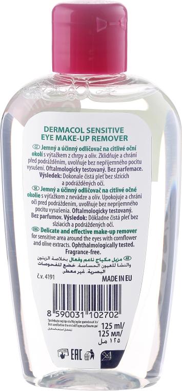 Augen-Make-up Entferner mit Olivenextrakt - Dermacol Sensitive Eye Make-Up Remover — Bild N2