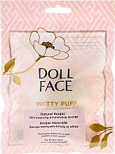 Düfte, Parfümerie und Kosmetik Natürlicher Hautreinigungsschwamm - Doll Face Pretty Puff Original Natural Konjac Skin Cleansing & Exfoliating Sponge