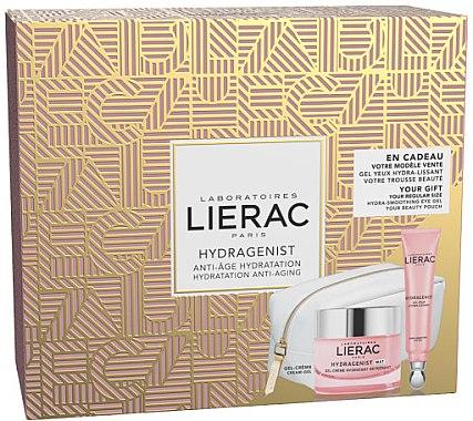 Gesichtspflegeset - Lierac Hydragenist (Gel-Creme 50ml + Augencreme 15ml + Kosmetiktasche) — Bild N1