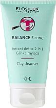 Düfte, Parfümerie und Kosmetik 2in1 Klärendes Gesichtspeeling mit Tonerde - Floslek Balance T-zone Instant Detox 2in1 Clay Cleanser