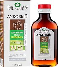 Düfte, Parfümerie und Kosmetik Shampoo gegen Haarausfall mit Zwiebel- und Klettenwurzelextrakt - Mirrolla