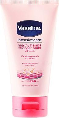 Intensiv pflegende Hand- und Nagelcreme mit Keratin - Vaseline Intensive Care Healthy Hands & Nails Keratin Cream — Bild N1