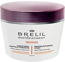 Düfte, Parfümerie und Kosmetik Regenerierende Haarmaske mit Bach-Blüten und Sheabutter - Brelil Bio Treatment Repair Mask