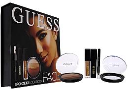 Düfte, Parfümerie und Kosmetik Make-up Set - Guess Beauty Face Lookbook Beauty 101 Bronze (Flüssiger Lippenstift 4.1ml + Lidschatten 7g + Wimperntusche 4ml + Kajalstift 0.5g)