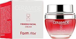 Düfte, Parfümerie und Kosmetik Feuchtigkeitsspendende und festigende Gesichtscreme mit Ceramiden - FarmStay Ceramide Firming Facial Cream
