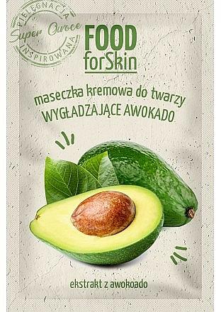 Glättende Creme-Maske für das Gesicht mit Avocadoextrakt - Marion Food for Skin Cream Mask Smoothing Avocado