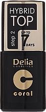 Düfte, Parfümerie und Kosmetik Hybrid Nagelüberlack - Delia Coral Hybrid Top Coat Gel
