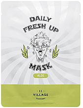 Düfte, Parfümerie und Kosmetik Tuchmaske für das Gesicht mit Aloe-Extrakt - Village 11 Factory Daily Fresh Up Mask Aloe