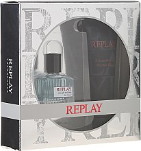 Replay For Him Giftbox - Duftset (Eau de Toilette 30ml + Duschgel 100ml) — Bild N1