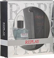 Düfte, Parfümerie und Kosmetik Replay For Him Giftbox - Duftset (Eau de Toilette 30ml + Duschgel 100ml)