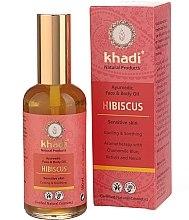 Düfte, Parfümerie und Kosmetik Hibiscus Gesichts- und Körperöl - Khadi