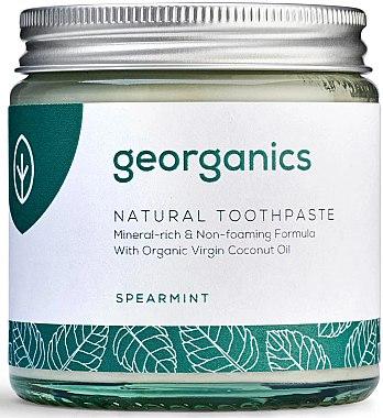 Natürliche und mineralstoffreiche Zahnpasta mit Minzgeschmack - Georganics Spearmint Natural Toothpaste — Bild N2