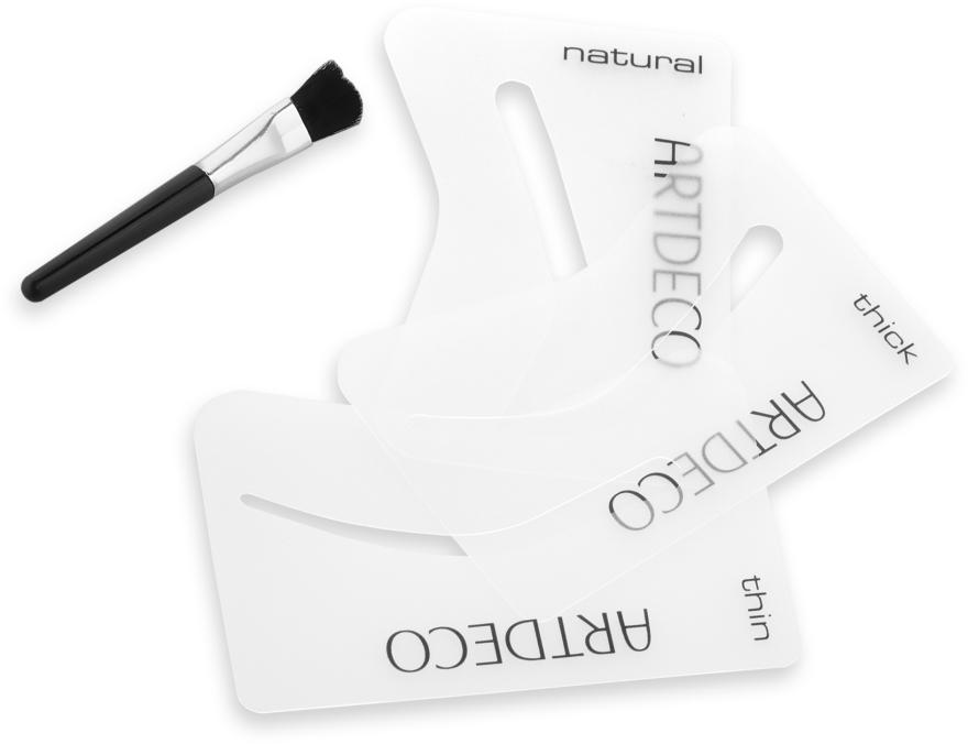 Augenbrauenschablonen mit Pinsel-Aplikator - Artdeco Eyebrow Stencials with Brush — Bild N2