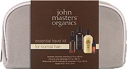 Düfte, Parfümerie und Kosmetik Haarpflegeset - John Masters Organics Essential Travel Kit For Normal Hair (Shampoo 60ml + Conditioner 60ml + Kopfhautbehandlung für mehr Volumen 30ml + Haaröl 3ml)