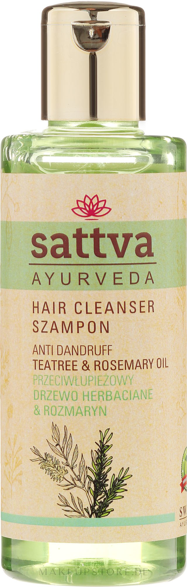 Shampoo - Sattva Cleanser Shampoo Anti Dandruff — Bild 210 ml