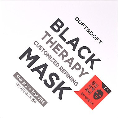 Tuchmaske gegen große Poren und fettige Haut mit Lotus, Camu-Camu und Glutathion - Duft & Doft Black Therapy Customized Refining Mask — Bild N1