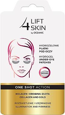Augenpatches mit Kollagen und Goldpartikeln - AA Cosmetics Lift 4 Skin Hydrogel Under-Eye Patches Collagen and Gold — Bild N1