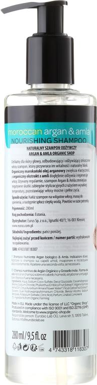 Nährendes Shampoo mit Arganöl & Amla - Organic Shop Argan & Amla Nourishing Shampoo — Bild N2