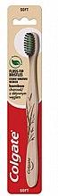 Düfte, Parfümerie und Kosmetik Bambus-Zahnbürste mit Aktivkohle weich schwarz-beige - Colgate Bamboo