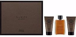 Düfte, Parfümerie und Kosmetik Gucci Guilty Absolute - Duftset (Eau de Parfum 50ml + After Shave Balsam 50ml + Duschgel 50ml)
