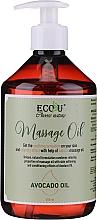 Düfte, Parfümerie und Kosmetik Feuchtigkeitsspendendes Massageöl mit Avocadoöl - Eco U Avocado Massage Oil