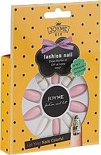 Düfte, Parfümerie und Kosmetik Künstliche Nägel Set mit Kleber weiß, rosa - Donegal Express Your Beauty