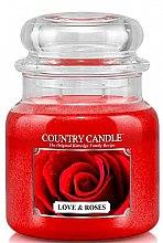 Düfte, Parfümerie und Kosmetik Duftkerze im Glas Love & Roses - Country Candle Love & Roses