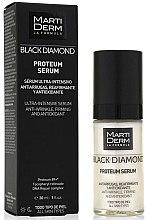 Düfte, Parfümerie und Kosmetik Intensiv straffendes antioxidatives Anti-Falten Gesichtsserum - MartiDerm Black Diamond Proteum Serum