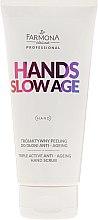 Düfte, Parfümerie und Kosmetik Anti-Aging Handpeeling - Farmona Professional Hands Slow Age Triple Active Anti-Ageing Hand Scrub