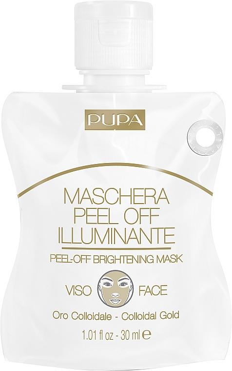 Klärende Peel-Off Gesichtsmaske mit kolloidalem Gold - Pupa Shachet Mask Peel-Off Brightening Mask — Bild N1